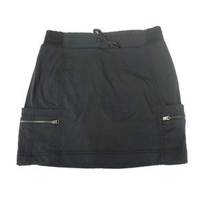 Athleta Trekkie Black Skort Skirt 4 Cargo Preowned